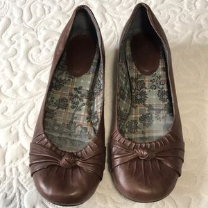Bakers brown slip on dress flats